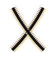 cartridge belt bullet tape isolated bandolier on vector image