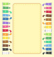 colorful paint tubes set notes frame vector image vector image