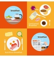Continental and French Breakfast concepts vector image vector image