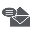 correspondence glyph icon email and mail vector image vector image