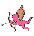 cupid angel isolated icon vector image vector image