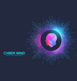 cyber mind and artificial intelligence concept vector image vector image