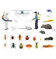 disinfection pest control insects extermination vector image