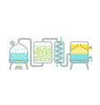distillation process essential oil making vector image vector image
