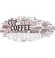 espresso word cloud concept vector image vector image