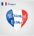 flag heart of france national brand vector image
