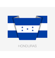 Flag of Honduras Flat Icon vector image vector image