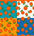 four seamless pattern with orange vector image vector image