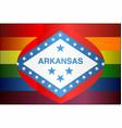 grunge arkansas and gay flags vector image vector image