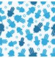hamsa hand and star david seamless pattern vector image