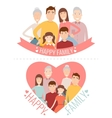 Happy Family Traditional family portrait vector image vector image