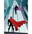 Hero Versus Villain vector image vector image