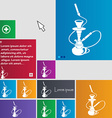 Hookah icon sign buttons Modern interface website vector image