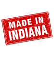 Indiana red square grunge made in stamp vector image vector image