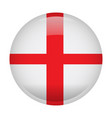 isolated flag of england vector image vector image