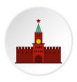kremlin icon circle vector image