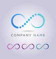 logo letter c template in form bone vector image