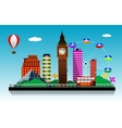 London city background vector image vector image