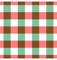 lumberjack plaid pattern in red white and green vector image vector image