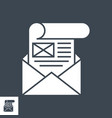mailing glyph icon vector image