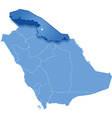 Map of Saudi Arabia the region Northern Borders vector image