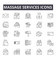 massage services concept line icons signs vector image vector image