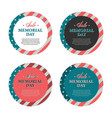 memorial day banners and stickers vector image vector image