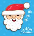 merry christmas card funny santa claus cartoon vector image