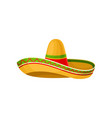mexican sombrero hat on a vector image
