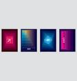 minimalistic brochure designs geometric abstract vector image vector image