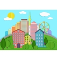 Modern city cardboard landscape Paper color style vector image vector image