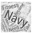 navy seal fitness Word Cloud Concept vector image vector image