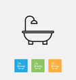 of cleaning symbol on bathroom vector image vector image