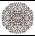 ornament hand drawn mandala blank geometric vector image vector image