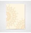 Poster with hand drawn ornament vector image vector image
