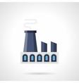 Power building flat color icon vector image vector image