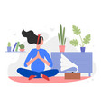 pregnancy yoga flat cartoon vector image vector image