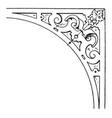 renaissance spanrail panel was designed by dutch vector image vector image