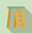 room ladder icon flat style vector image vector image