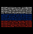 russia flag collage of welcome texts vector image vector image