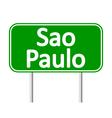 Sao Paulo road sign vector image