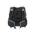 scuba diving gear buoyancy compensator vector image