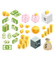set money icon symbol vector image