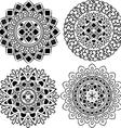 Set of beautiful ornamental mandalas vector image vector image