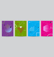 set of colored covers with geometric forms vector image vector image