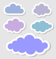 Set of paper clouds for your design vector image vector image