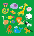Set of Zoo Animals vector image vector image