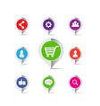 Shopping cart social network marketing concept vector image vector image