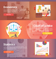 social science of economics political economy vector image