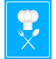 spoon fork and toque vector image vector image
